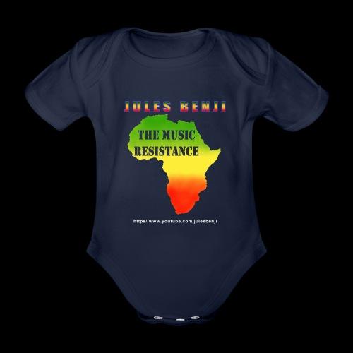 JULES BENJI & MUSIC RESISTANCE africa design - Organic Short-sleeved Baby Bodysuit