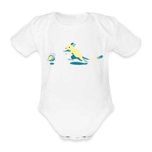 Fang die Nuss! - Baby Bio-Kurzarm-Body
