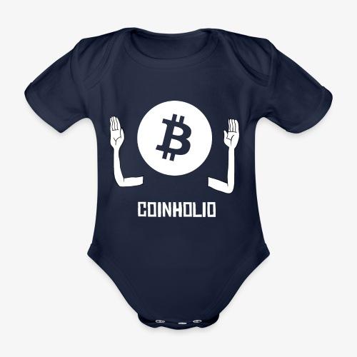 HODL coin holio-w - Organic Short-sleeved Baby Bodysuit
