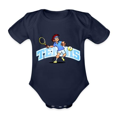 Tennis IV txt fc - Organic Short-sleeved Baby Bodysuit