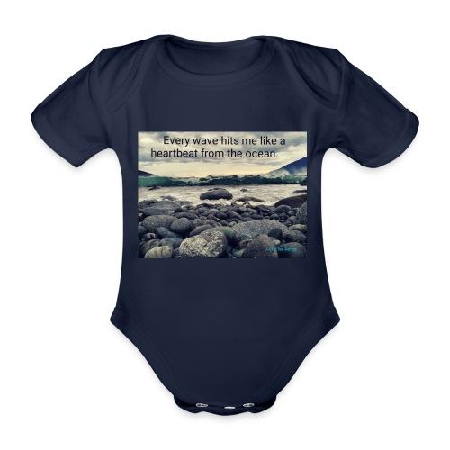 Oceanheart - Økologisk kortermet baby-body