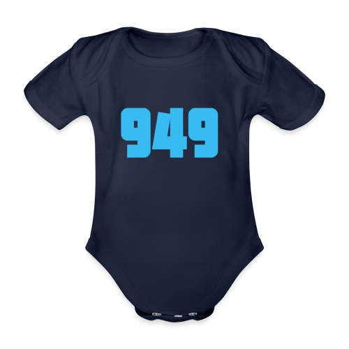 949blue - Baby Bio-Kurzarm-Body