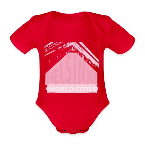 Helsinki light pink - Organic Short-sleeved Baby Bodysuit