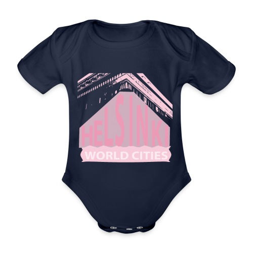 Helsinki light pink - Organic Short-sleeved Baby Bodysuit