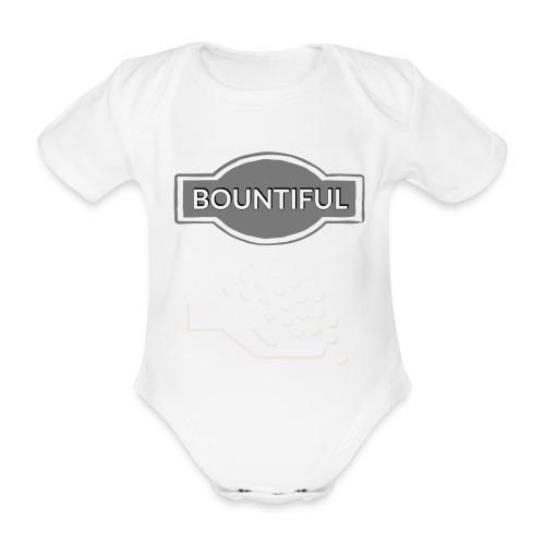 Bontiul gray white - Organic Short-sleeved Baby Bodysuit