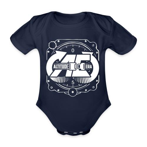 Altitude Era Altimeter Logo - Organic Short-sleeved Baby Bodysuit