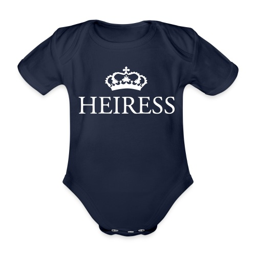 Gin O'Clock Heiress Baby Vest - Gold Print - Organic Short-sleeved Baby Bodysuit