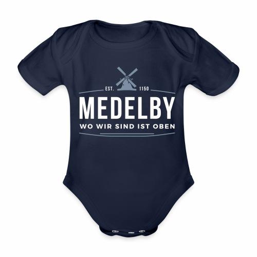 Medelby - Wo wir sind ist oben - Baby Bio-Kurzarm-Body