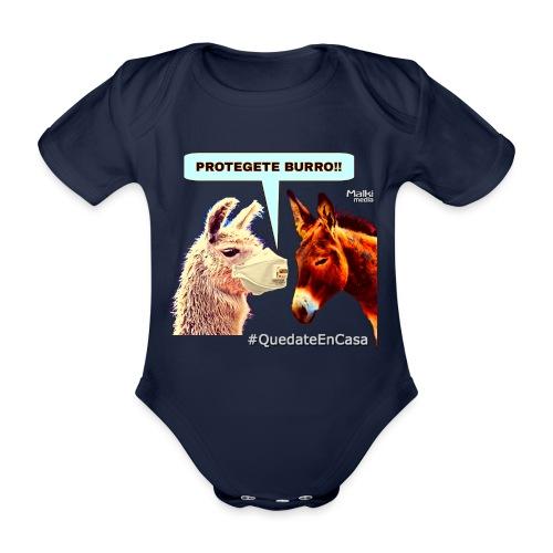 PROTEGETE BURRO - Organic Short-sleeved Baby Bodysuit