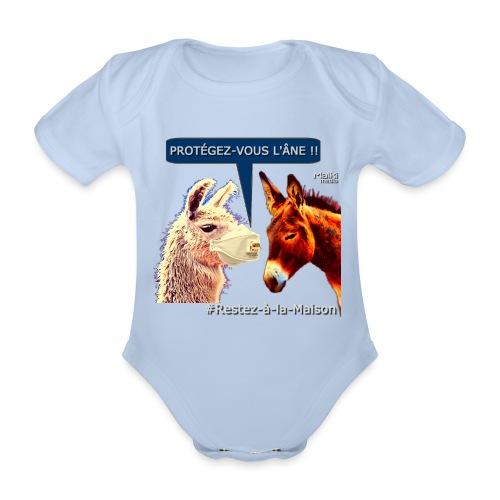 PROTEGEZ-VOUS L'ÂNE !! - Coronavirus - Body orgánico de manga corta para bebé