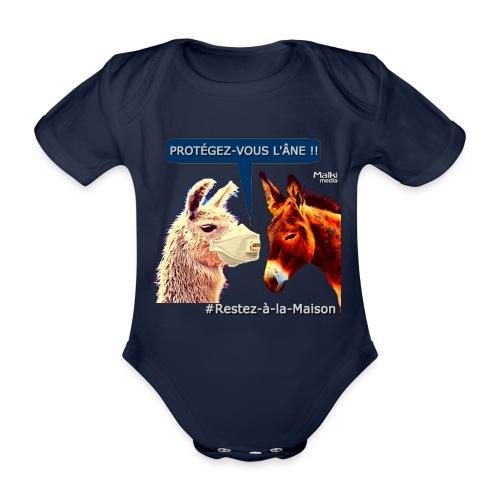 PROTEGEZ-VOUS L'ÂNE !! - Coronavirus - Organic Short-sleeved Baby Bodysuit