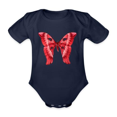Herkules Falter Rot - Baby Bio-Kurzarm-Body