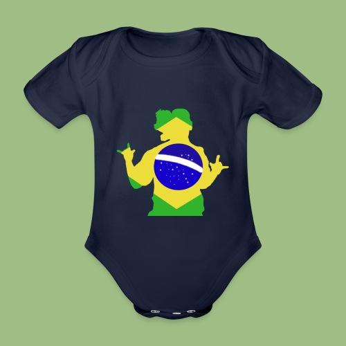 Ronaldinho Brazil - Ekologisk kortärmad babybody