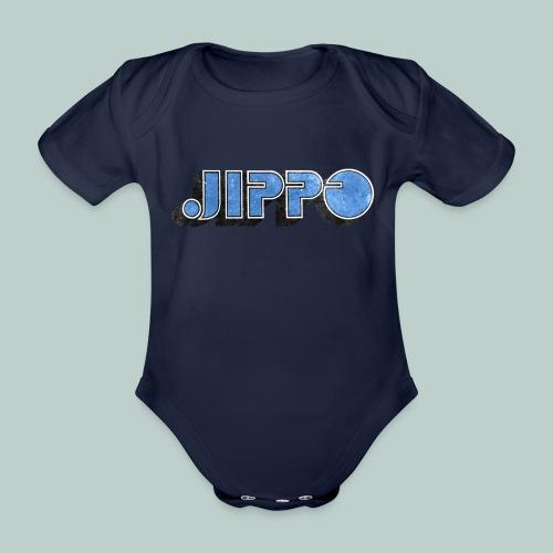JIPPO LOGO (blue) - Vauvan lyhythihainen luomu-body