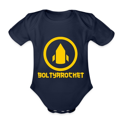 Bolt Ya Rocket - Organic Short-sleeved Baby Bodysuit