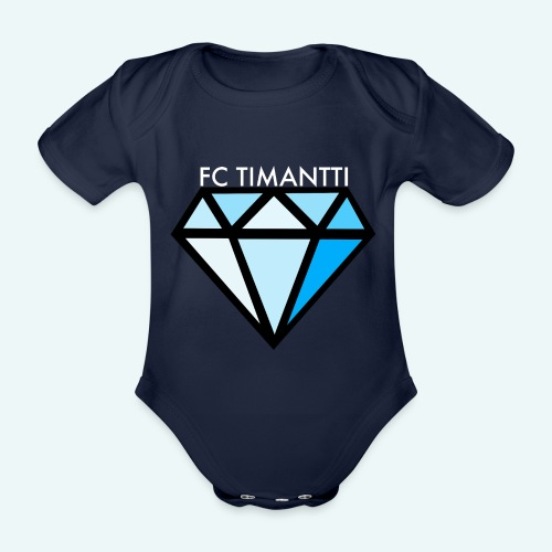 FCTimantti logo valkteksti futura - Vauvan lyhythihainen luomu-body