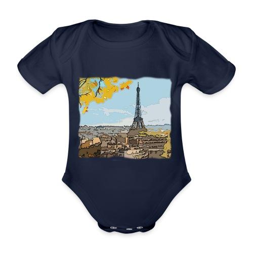 Tour Eiffel de Paris - Body Bébé bio manches courtes