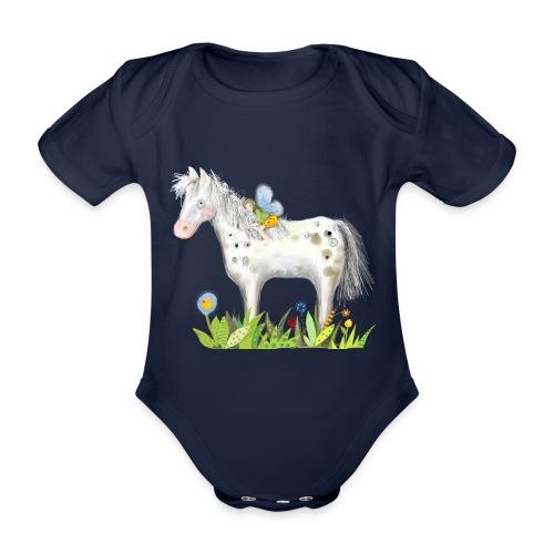 Fee. Das Pferd und die kleine Reiterin. - Baby Bio-Kurzarm-Body