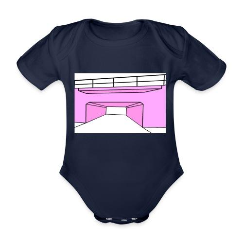 Pink Tunnel - Ekologisk kortärmad babybody