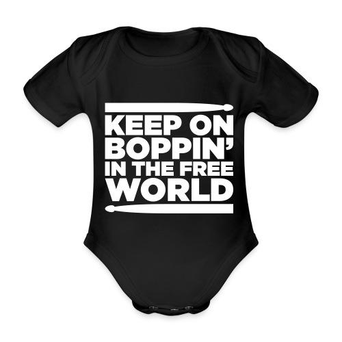 Keep on Boppin' - Organic Short-sleeved Baby Bodysuit