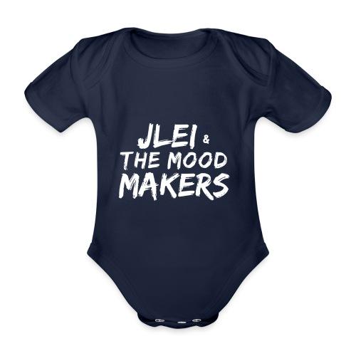 Jlei & The Mood Makers Schriftzug Weiss - Baby Bio-Kurzarm-Body