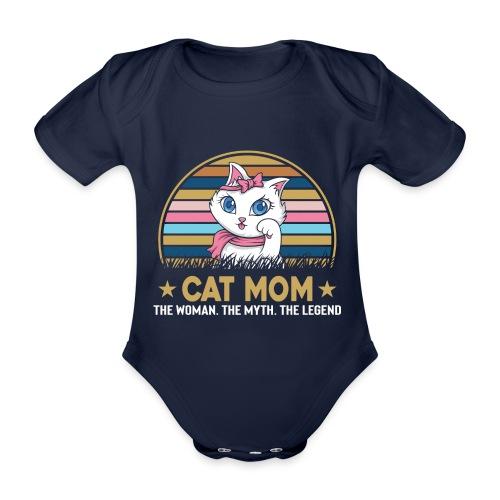 CAT MOM - Body Bébé bio manches courtes