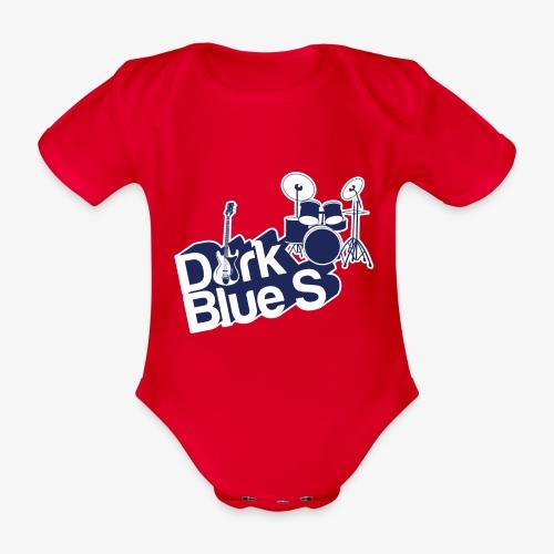 DarkBlueS outline gif - Organic Short-sleeved Baby Bodysuit