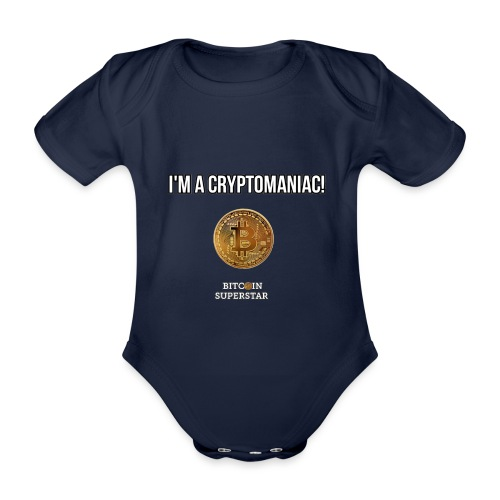 I'm a cryptomaniac - Body ecologico per neonato a manica corta