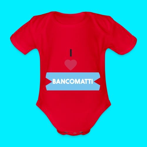 I LOVE BANCOMATTI CUOREnero - Body ecologico per neonato a manica corta