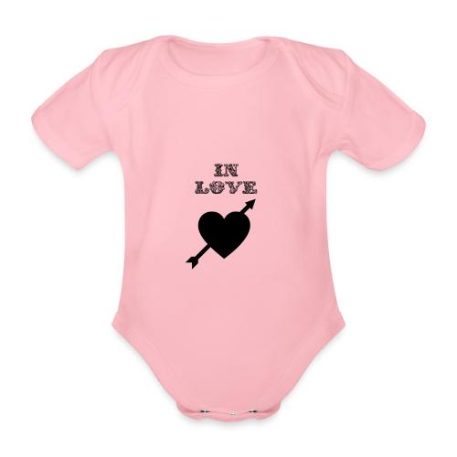 I'm In Love - Body ecologico per neonato a manica corta