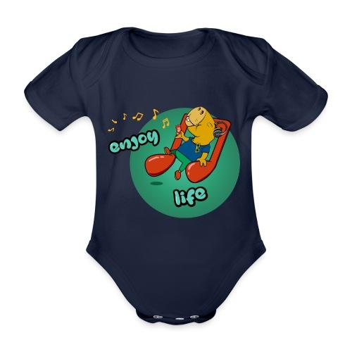 Chiling Capybara - Baby Bio-Kurzarm-Body