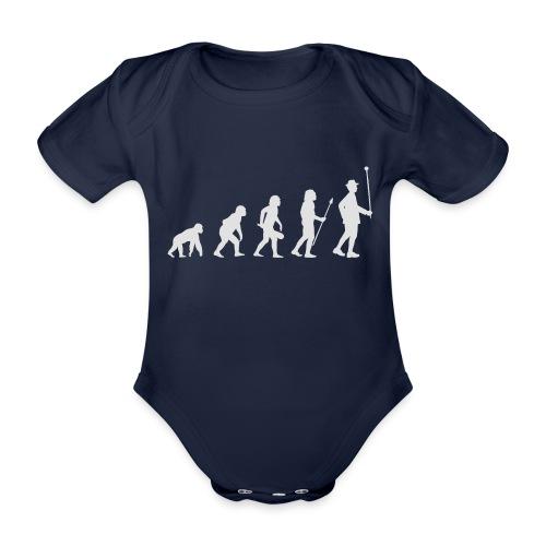 Evolution Stabführer weiß - Baby Bio-Kurzarm-Body
