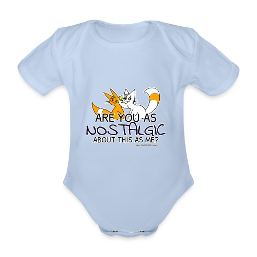 Nostalgia Hurts - Organic Short-sleeved Baby Bodysuit