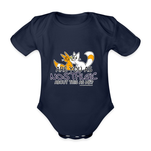 Nostalgia Hurts - Organic Short-sleeved Baby Bodysuit
