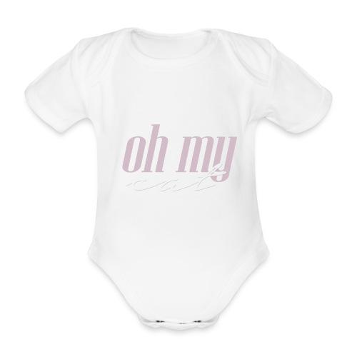 Oh my cat - Body orgánico de manga corta para bebé