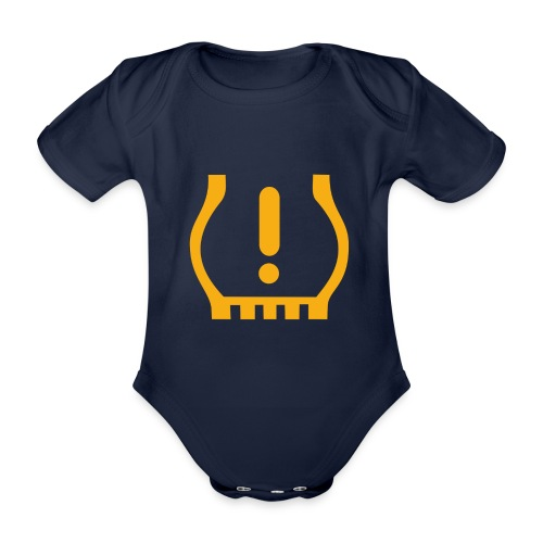 Tire Pressure - Organic Short-sleeved Baby Bodysuit