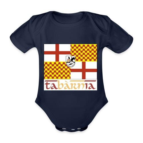 Bandera Tabarnia letra simran - Body orgánico de maga corta para bebé