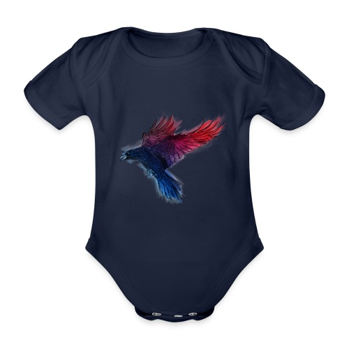 Watercolor Raven - Baby Bio-Kurzarm-Body