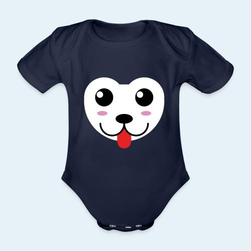 Husky perro bebé (baby husky dog) - Body orgánico de maga corta para bebé