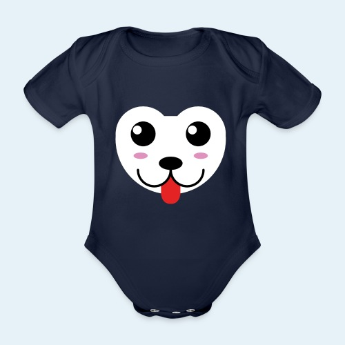 Husky perro bebé (baby husky dog) - Body orgánico de manga corta para bebé