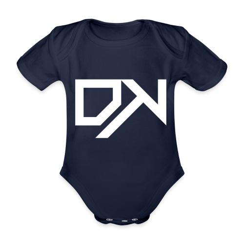 DewKee Logo Cap White - Organic Short-sleeved Baby Bodysuit