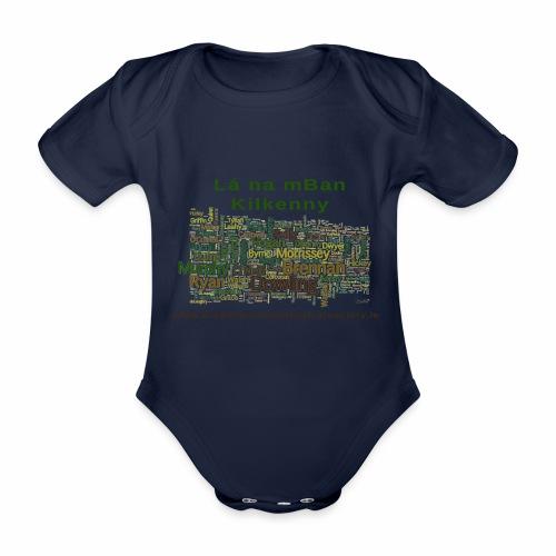 Lá na mban Kilkenny Wordle - Organic Short-sleeved Baby Bodysuit