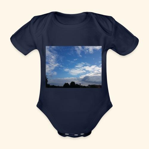 himmlisches Wolkenbild - Baby Bio-Kurzarm-Body