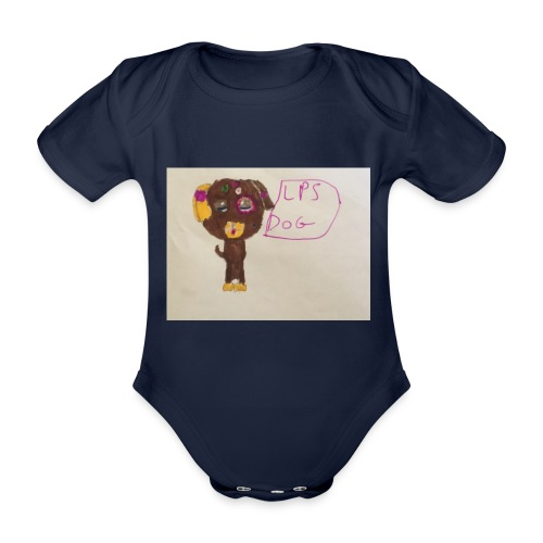 Little pets shop dog - Organic Short-sleeved Baby Bodysuit