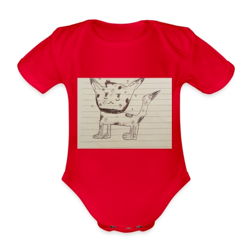 Wolf - Organic Short-sleeved Baby Bodysuit