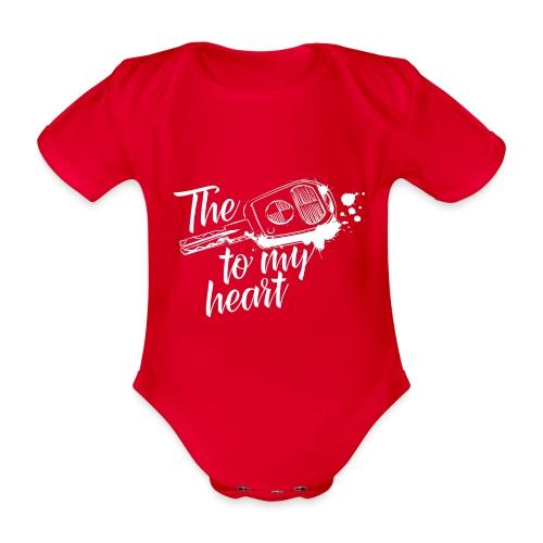 The key to my heart - Baby Bio-Kurzarm-Body