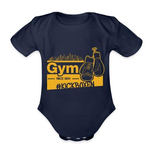 Gym Druckfarbe Orange - Baby Bio-Kurzarm-Body
