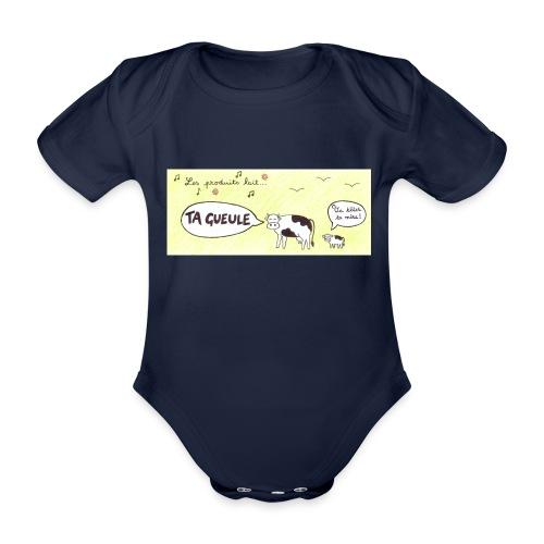 Vache pas laitière - Body Bébé bio manches courtes