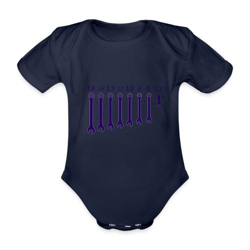 CHIAVE INGLESE APRIBOTTIGLIA - Body ecologico per neonato a manica corta