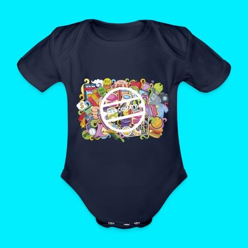 maglia logo doodle - Body ecologico per neonato a manica corta